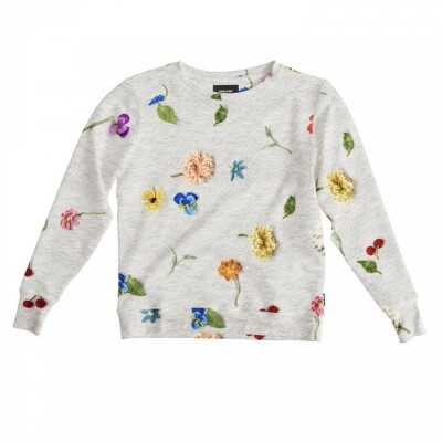 Snurk Sweater Dames Knitted Flowers