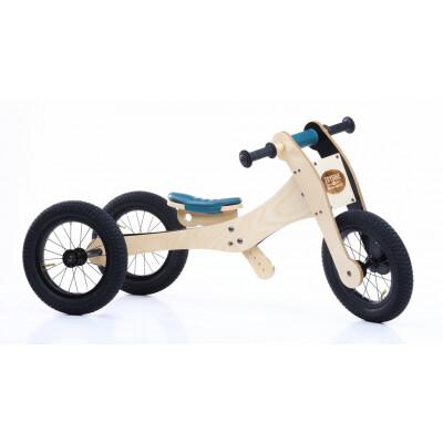 Trybike hout 3 in 1 loopfiets blauw