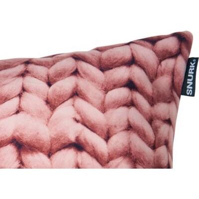 Twirre kussen velour pink 50x50 cm Snurk