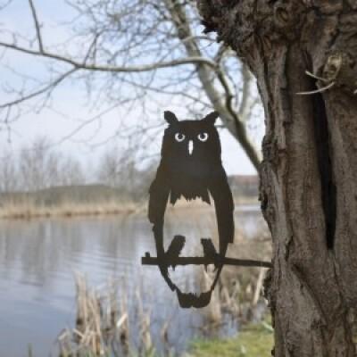 Metalbird vogelsilhouet Uil