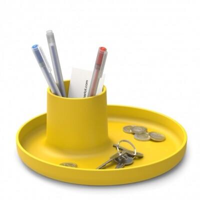 Vitra O-Tidy organizer geel
