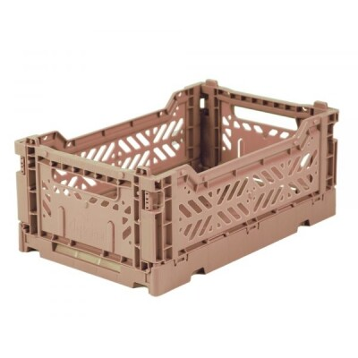 Folding Crates Mini Warm Taupe Eef Lillemor