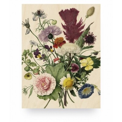 KEK Amsterdam Print op hout Wild Flowers small