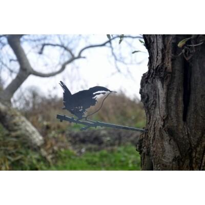 Metalbird vogelsilhouet Winterkoning