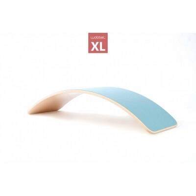 Wobbel XL luchtblauw/blank gelakt balansbord