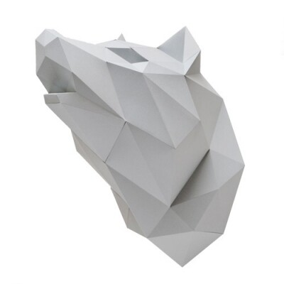 Assembli wolf paper kit diy trofee