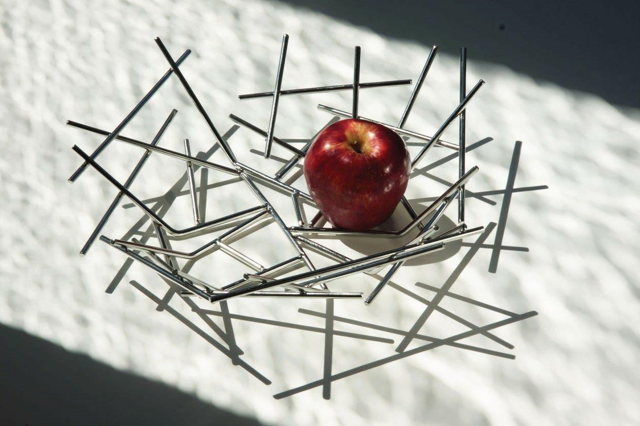 Design Rvs Keukenaccessoires : Alessi Blow Up fruitschaal