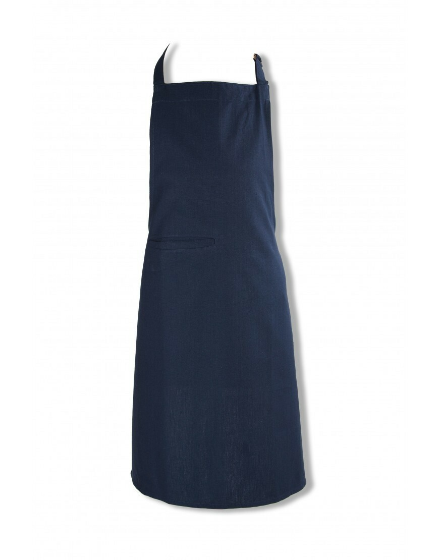 KOOK keukenschort Uni donker blauw