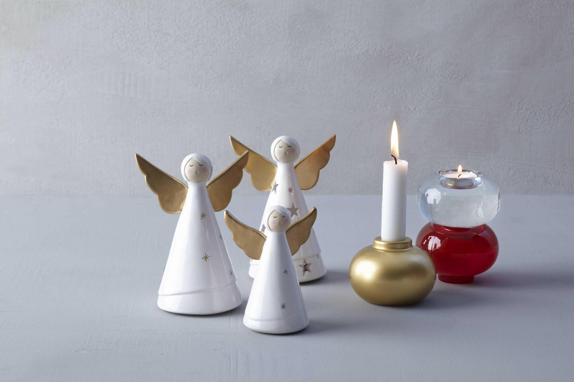 Design Rvs Keukenaccessoires : Leonardo engel Natale wit/goud, leuke ...