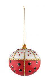 Alessi kerstbal Faberjori Re Coccinello
