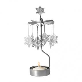 Rotary candleholder Snow Star
