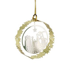 Pluto round Deco Crib kerstdecoratie