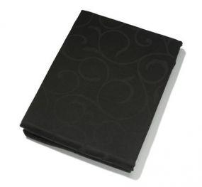 KOOK tafelkleed Damast zwart rond 180 cm