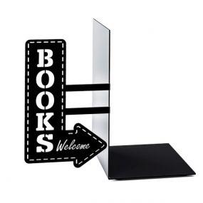 Balvi boekensteun Bookstore zwart