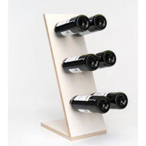 Wijnpaal wijnrek Compact Six wit