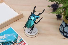 Assembli Stag beetle caribbean green metallic