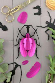 Assembli DIY papieren viool kever pink metallic