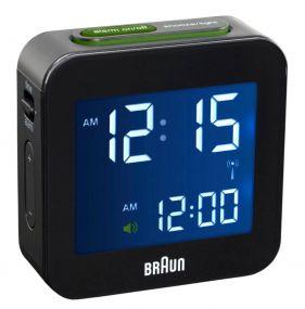Braun digitale reiswekker BC08 zwart Radio controlled