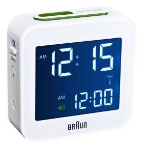Braun digitale reiswekker BC08 witRadio controlled
