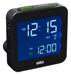Braun digitale reiswekker BNC009 zwart radio controlled sfeer