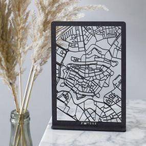 City shapes Desk map Zwolle mini map