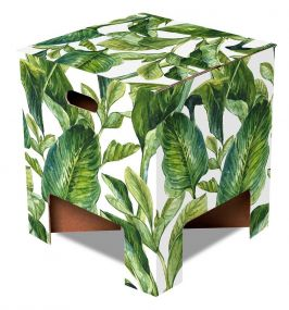 Dutch Design Chair krukje Green Leaves