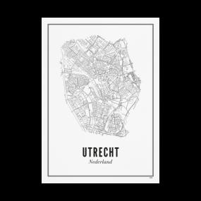 Wijck print stad Utrecht A4 21 x 30