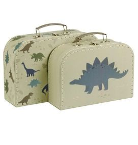 A Little Lovely Company Kofferset Dinosaurussen 2 koffers