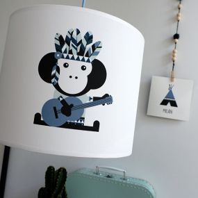 Bi&Li creaties hanglamp Indiaan Tipi blauw