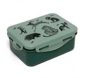 petit monkey salie lunchbox met zwarte dieren