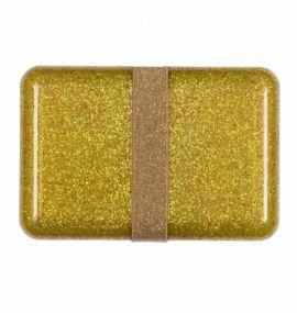 A Little Lovely Company lunchbox Glitter goud