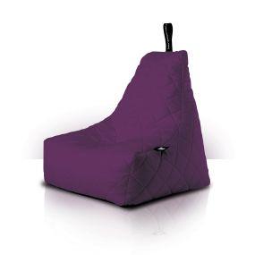 B-Bag zitzak Quilted paars