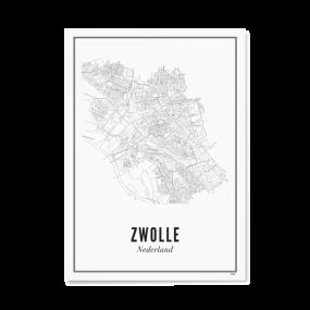 Wijck Zwolle Stad poster 40 x 50 cm