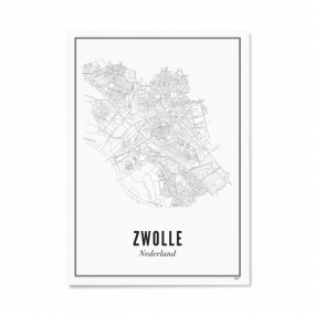 Wijck Zwolle Stad poster A3 30 x 40