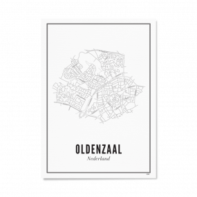 Wijck poster Oldenzaal A4 21 x 30 cm