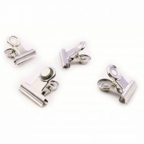 Trendform magneten Clip Graffa Mini zilver set van 4