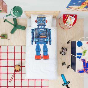 Snurk Robot dekbedovertrek 1-persoons 140 x 220 cm