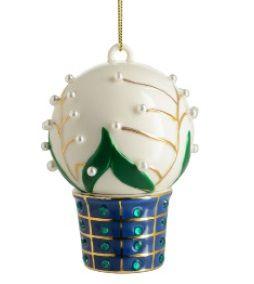 Alessi kerstbal Faberjori Mughetti e smeraldi