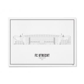 Wijck stadion print stadion Galgenwaard A4 21 x 30