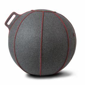 Vluv VELT Zitbal Grey-Melange - Red-H 60-65 cm