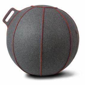 Vluv VELT Zitbal Grey-Melange - Red-H 70-75 cm