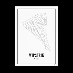 Wijck Zwolle Wipstrik poster A3 30 x 40