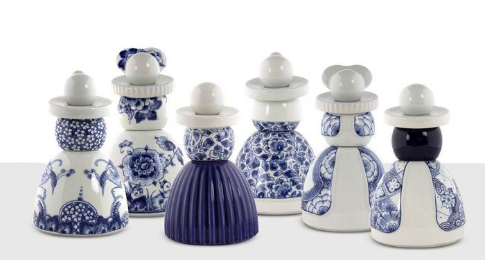 Zitzak Delfts Blauw.Royal Delft Proud Mary 04 Flower Pattern