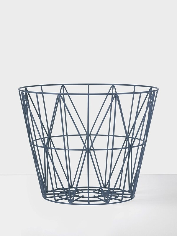 Ferm Living Wire basket petrol M