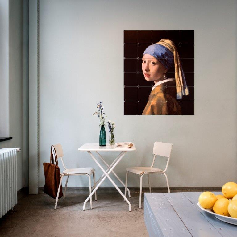 ixxi Johannes Vermeer Muurdecoratie Meisje met de Parel 100 x 120 cm