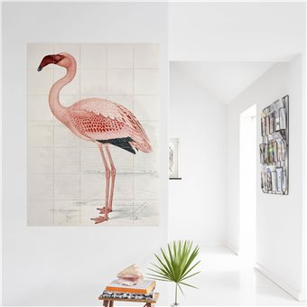 IXXI muurdecoratie Natural History Museum Flamingo 120 x 80 cm