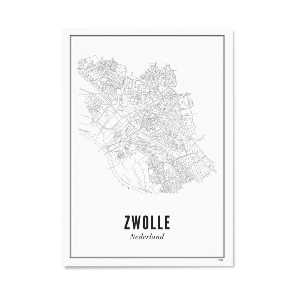 Wijck Zwolle Stad poster 50 x 70 cm